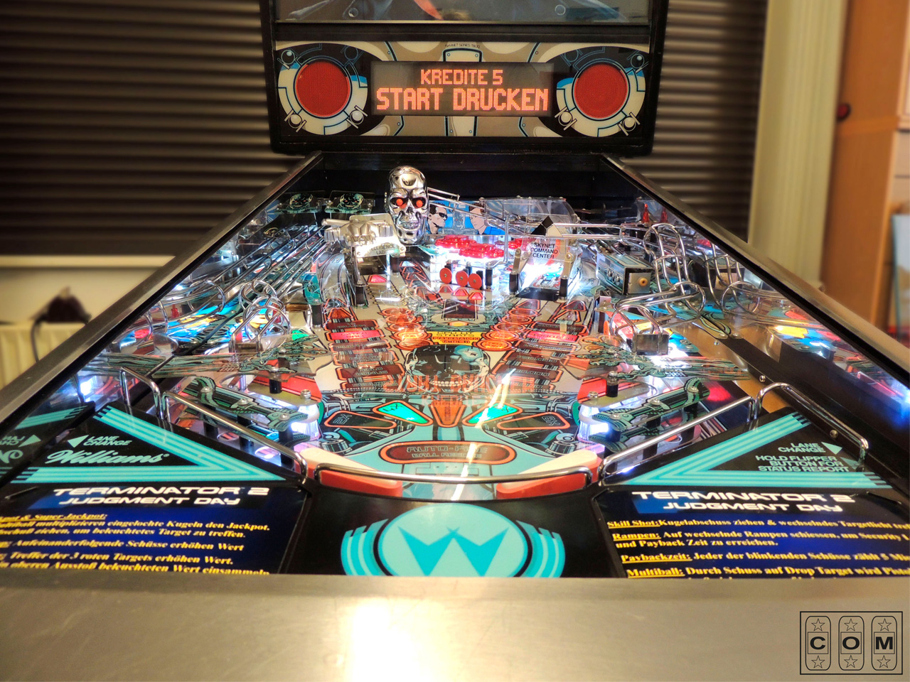 Terminator 2 Playfield Nachher